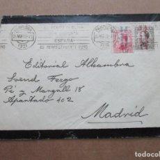 Timbres: CIRCULADA 1932 DE PAMPLONA A MADRID MATASELLO ACEITE DE OLIVA. Lote 191768853