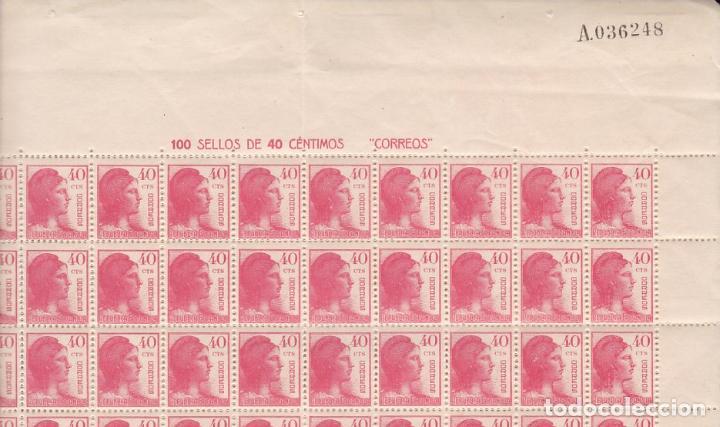 GP18- MATRONA REPÚBLICA EDIFIL 751 HOJA 100 SELLOS ** SIN FIJASELLOS.. VARIEDAD. (Sellos - España - II República de 1.931 a 1.939 - Nuevos)