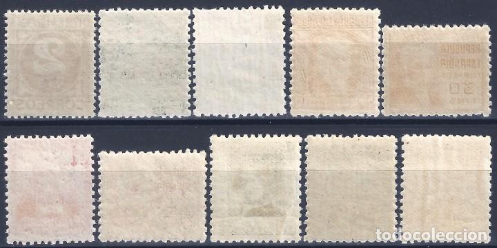 Sellos: EDIFIL 731-740 CIFRA Y PERSONAJES 1936-1938 (SERIE COMPLETA). CENTRADO DE LUJO. MNH ** - Foto 2 - 191865422