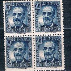 Sellos: ESPAÑA 1936/1939 BLOQUE DE 4 NUEVOS MNH** EDIFIL 739**. Lote 192013083