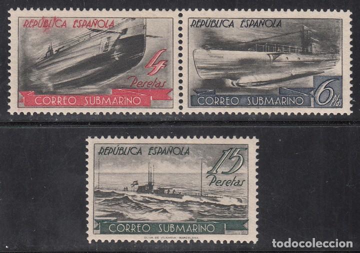 ESPAÑA,1938 EDIFIL Nº SH 781, /**/, CORREO SUBMARINO, SIN FIJASELLOS (Sellos - España - II República de 1.931 a 1.939 - Nuevos)