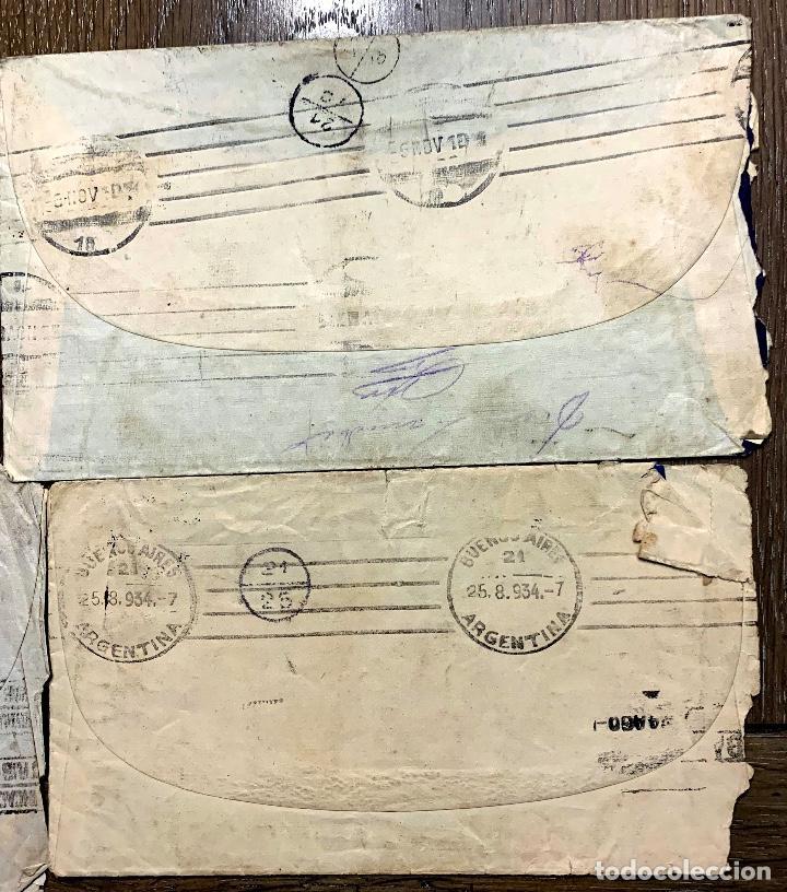 Sellos: 2 CARTAS. GIJON-BUENOS AIRES. 1934 Y 1932? - Foto 2 - 192082192