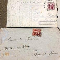 Sellos: CARTA GIJON-BUENOS AIRES 1934. POSTAL MONTSERAT-BERLIN 1932. Lote 192082531