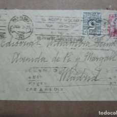 Timbres: CIRCULADA 1932 DE PAMPLONA NAVARRA A MADRID CON MATASELLO ACEITE DE OLIVA. Lote 192210798