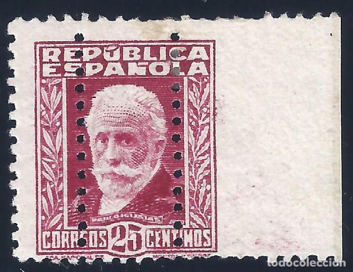 EDIFIL 658 PABLO IGLESIAS. 1932 (VARIEDAD...TRIPLE DENTADO). NO CATALOGADO. LUJO. MH * (Sellos - España - II República de 1.931 a 1.939 - Nuevos)