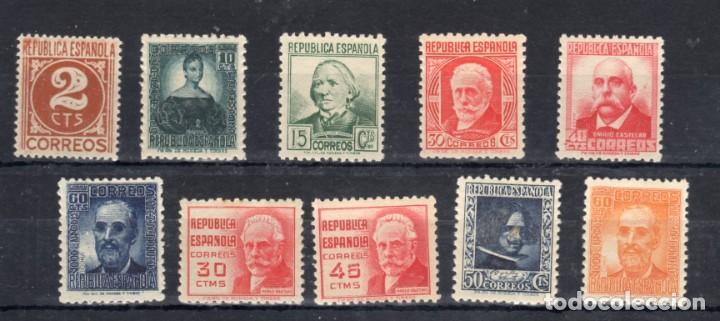 ED Nº 731/40 NUEVOS SERIE COMPLETA (Sellos - España - II República de 1.931 a 1.939 - Nuevos)