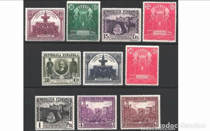 ESPAÑA - 1931 - II REPUBLICA - EDIFIL 604/613 - SERIE COMPLETA - MH* - NUEVOS. (Sellos - España - II República de 1.931 a 1.939 - Nuevos)