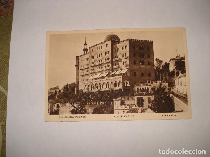 POSTAL ALHAMBRA PALACE SELLO NICOLAS SALMERON (Sellos - España - II República de 1.931 a 1.939 - Cartas)
