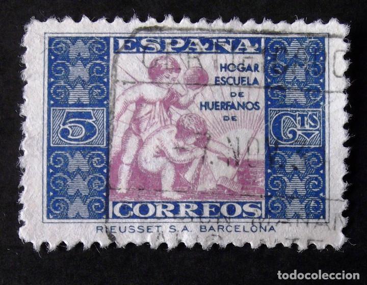 HUÉRFANOS CORREOS, EDIFIL 1, SELLO USADO. ALEGORÍA. (Sellos - España - II República de 1.931 a 1.939 - Usados)