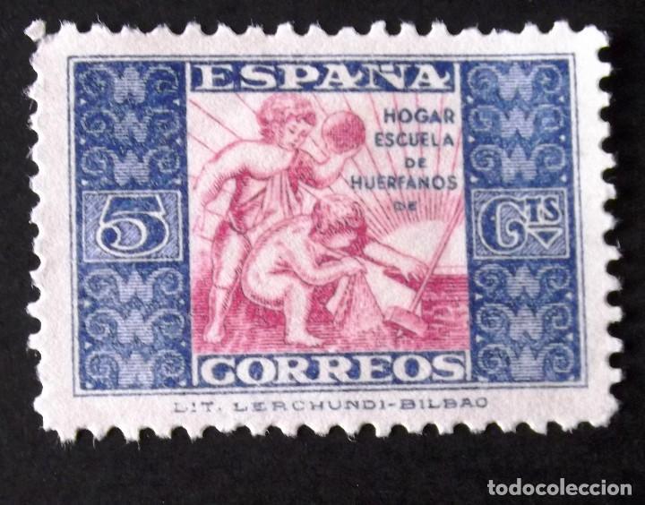 HUÉRFANOS CORREOS, EDIFIL 9, SELLO USADO, ALEGORÍA. (Sellos - España - II República de 1.931 a 1.939 - Usados)