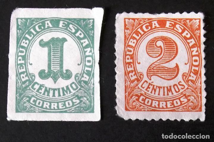 677-8, SERIE EN USADO, SIN MATASELLAR. CIFRAS. (Sellos - España - II República de 1.931 a 1.939 - Usados)