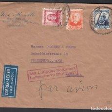 Sellos: SOBRE, BARCELONA A ALEMANIA, CORREO AÉREO POR AVIÓN . Lote 193743590