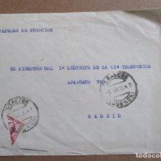 Sellos: CIRCULADA 1935 DE TARANCON CUENCA A MADRID CON SELLO BISECTADO. Lote 193839342
