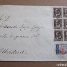 Sellos: CIRCULADA 1934 DE EL ESCORIAL A MADRID CON SELLO HUERFANOS DE CORREOS. Lote 193874817