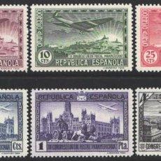 Sellos: ESPAÑA, 1931 EDIFIL Nº 614 / 619 /**/ CONGRESO UNIÓN POSTAL PANAMERICANA. SIN FIJASELLOS.. Lote 193964138