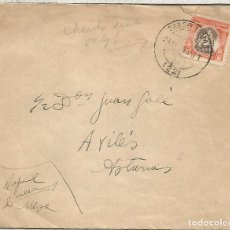 Sellos: SAN SEBASTIAN CC A AVILES ASTURIAS FRANQUICIA CARTERO SELLO HUERFANOS DE CORREOS 1933. Lote 194142030