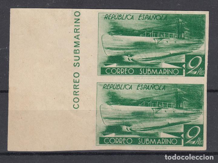 1938 EDIFIL 776CCDS**/* NUEVO CON Y SIN CHARNELA. PAREJA. SIN DENTAR. CORREO SUBMARINO (1219-1) (Sellos - España - II República de 1.931 a 1.939 - Nuevos)
