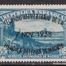 Sellos: 1938. ANIVERSARIO DEFENSA DE MADRID SIN FIJASELLOS EDIFIL Nº 789. Lote 194239192