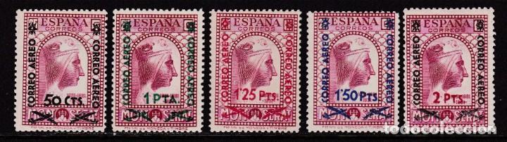 1938. MONTSERRAT HABILITADOS SERIE COMPLETA NUEVA CON FIJASELLOS EDIFIL Nº 782/6 (Sellos - España - II República de 1.931 a 1.939 - Nuevos)