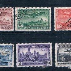 Sellos: ESPAÑA 1931 SERIE USADA UNION POSTAL PANAMERICANA EDIFIL 614/619 VER EXPLICACIÓN. Lote 194342468