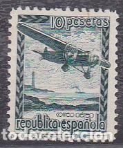ESPAÑA.- Nº NE 38 AVION EN VUELO SIN GOMA (Sellos - España - II República de 1.931 a 1.939 - Nuevos)