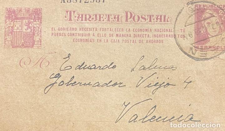 ENTERO POSTAL Nº 77 (Sellos - España - II República de 1.931 a 1.939 - Cartas)