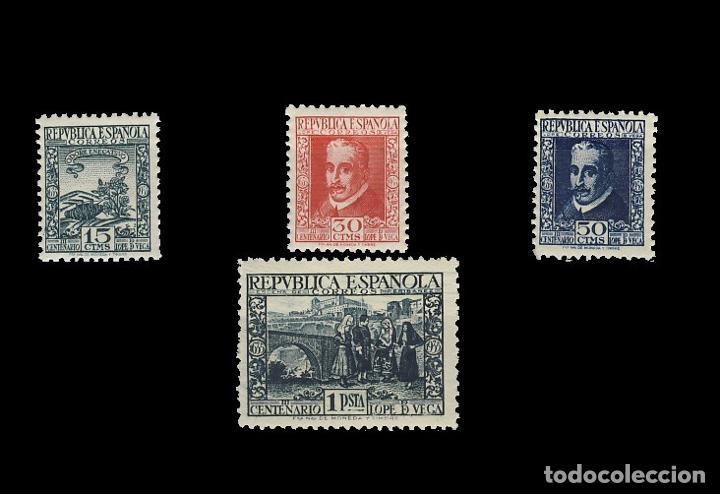 690/93** LOPE DE VEGA. BC (Sellos - España - II República de 1.931 a 1.939 - Nuevos)