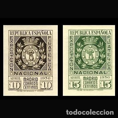727/28** EXPOSICION FILATELICA. BC (Sellos - España - II República de 1.931 a 1.939 - Nuevos)