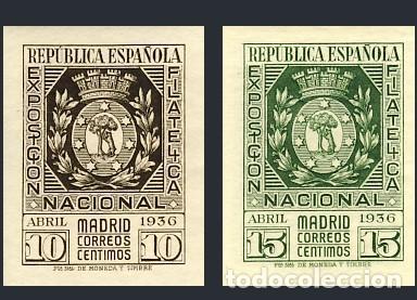 727/28* EXPOSICION FILATELICA. BC. (Sellos - España - II República de 1.931 a 1.939 - Nuevos)