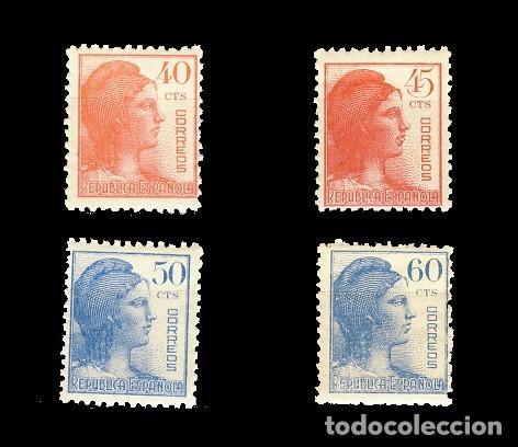 751/54** ALEGORIA DE LA REPUBLICA. CN (Sellos - España - II República de 1.931 a 1.939 - Nuevos)