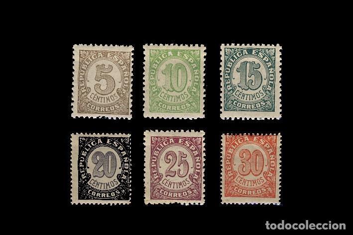 745/50** CIFRAS . CN (Sellos - España - II República de 1.931 a 1.939 - Nuevos)