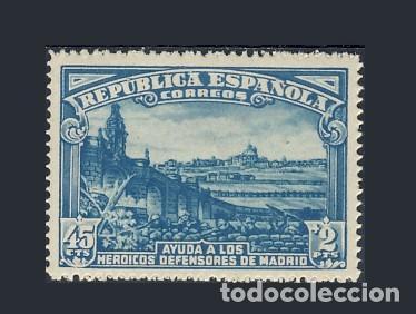 757** DEFENSA DE MADRID. BC (Sellos - España - II República de 1.931 a 1.939 - Nuevos)