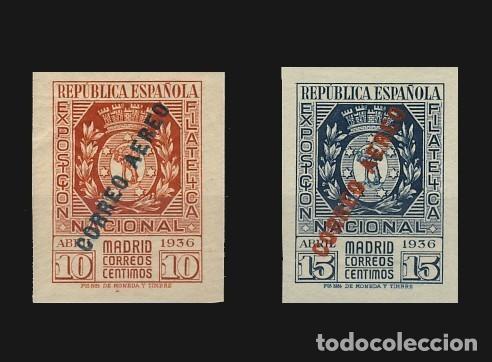 729/30* EXPOSICION FILATELICA.AEREO. (Sellos - España - II República de 1.931 a 1.939 - Nuevos)