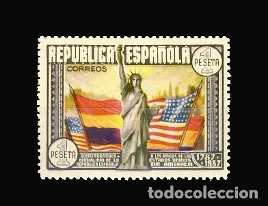 763** ANIVERSARIO DE LA CONSTITUCION DE LOS EE.UU. BC (Sellos - España - II República de 1.931 a 1.939 - Nuevos)