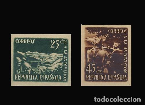 787/88A** 43 DIVISION SIN DENTAR. BC (Sellos - España - II República de 1.931 a 1.939 - Nuevos)