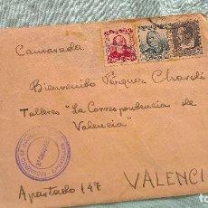 Sellos: FRENTE DE TERUEL..2 COMPAÑIA..REGIMIETO INFANTERIA N.9..SOBRE..CARTA REPUBLICA, SOLDADO REPUBLICANO. Lote 194639651