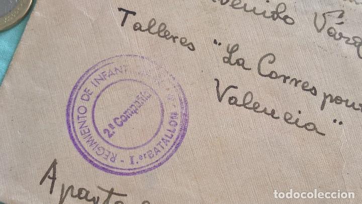 Sellos: Frente de Teruel..2 compañia..Regimieto Infanteria N.9..sobre..Carta Republica, Soldado Republicano - Foto 2 - 194639651