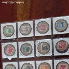 Sellos: IMPRESIONANTE LOTE DE 20 MONEDAS (CARTON MONEDAS) CON SELLOS POSTALES DE LA REPUBLICA ESPAÑOLA. Lote 194652156