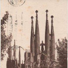 Sellos: TSRJETA CIRCULADA ESDE BARELONA A PALMA DE MALLORCA EN 1935. Lote 194741727