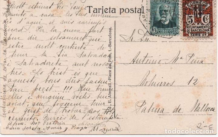 Sellos: Tsrjeta circulada esde Barelona a Palma de Mallorca en 1935 - Foto 2 - 194741727