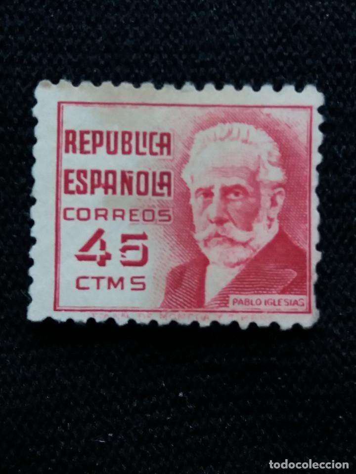 SELLOS REP. ESPAÑOLA, 45 CTS, IGLESIAS, 1936, SIN USAR, (Sellos - España - II República de 1.931 a 1.939 - Nuevos)