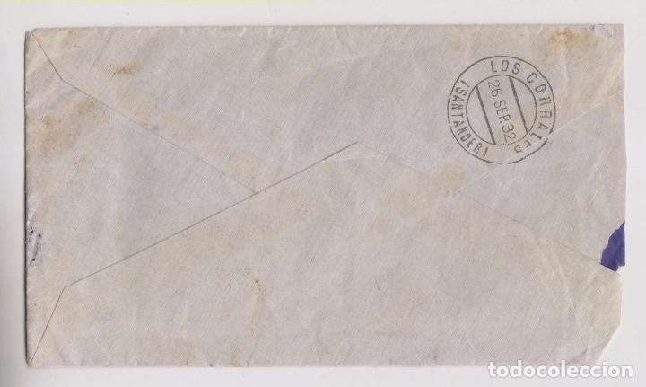 Sellos: SOBRE. 1932. AMBULANTE ASC. ONTANEDA. ASTILLERO, CANTABRIA. - Foto 2 - 194960847