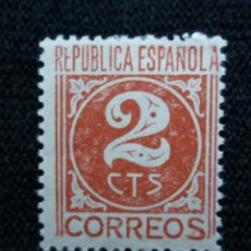 Sellos: SELLOS, REP. ESPAÑOLA, 2 CTS, CIFRAS, 1936, SIN USAR,. Lote 194962001