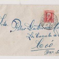 Sellos: SOBRE. 1933. ALCANCE NORTE. SANTANDER, CANTABRIA. A LOS CORRALES. Lote 194962253