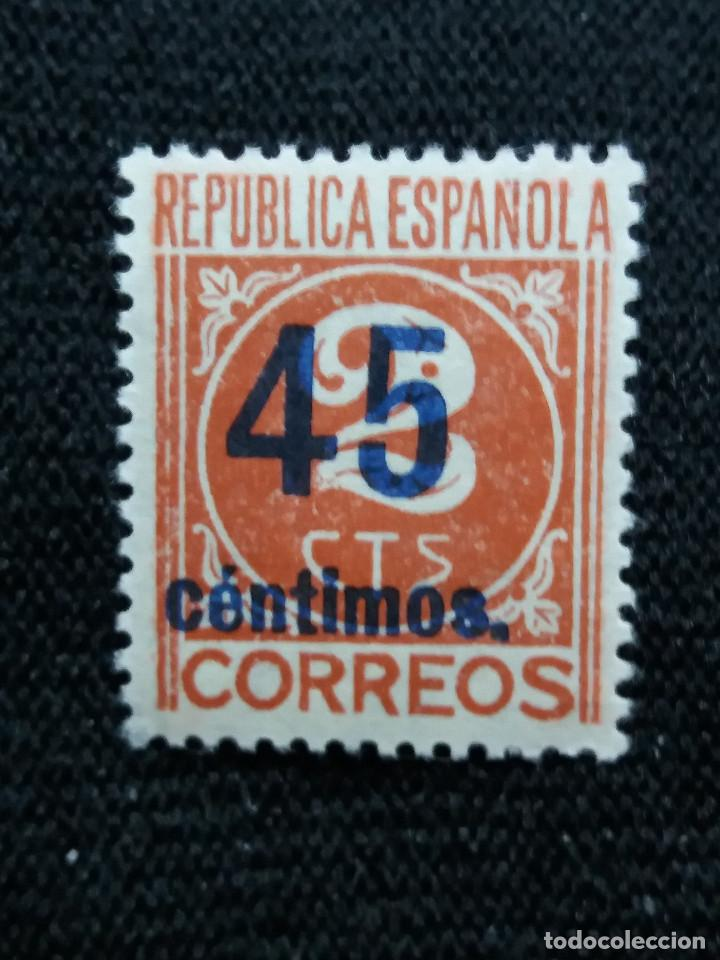 SELLOS, REP. ESPAÑOLA, 45 CTS, CIFRAS, 1931, SIN USAR, (Sellos - España - II República de 1.931 a 1.939 - Nuevos)