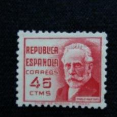 Sellos: SELLOS, REP. ESPAÑOLA, 45 CTS, IGLESIAS, 1938, SIN USAR,. Lote 194963930