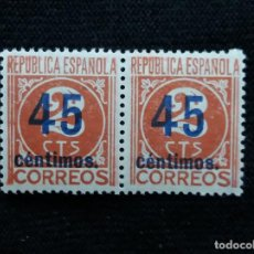 Sellos: SELLOS, REP. ESPAÑOLA, 45 CTS, CIFRAS, 1901-49, SIN USAR,. Lote 194966445
