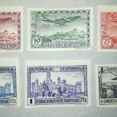 Sellos: ESPAÑA SPAIN 1931 EDIFIL 614-616 (SIN DENTAR) III CONGRESO DE LA UNIÓN POSTAL PANAMERICANA. Lote 194976157
