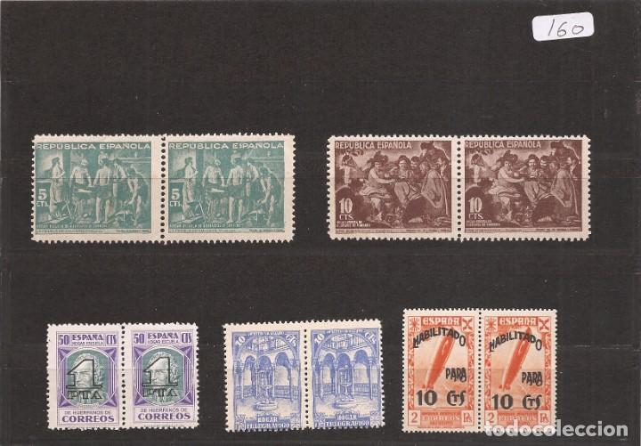 SELLOS DE ESPAÑA AÑOS 1938 A 1940 BENEFICENCIA SELLOS NUEVOS** EN PAREJA (Sellos - España - II República de 1.931 a 1.939 - Nuevos)
