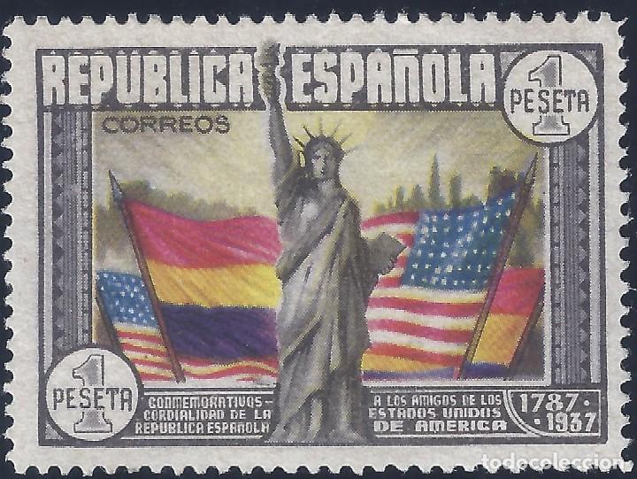 EDIFIL 763 ANIVERSARIO DE LA CONSTITUCIÓN DE LOS EE.UU. 1938. VALOR CATÁLOGO: 50 €. LUJO. MNH ** (Sellos - España - II República de 1.931 a 1.939 - Nuevos)